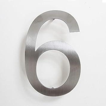 n/úmero de casa adhesivo de acero inoxidable altura 15,5 cm n/úmero de puerta de dise/ño 0 N/úmero de calle