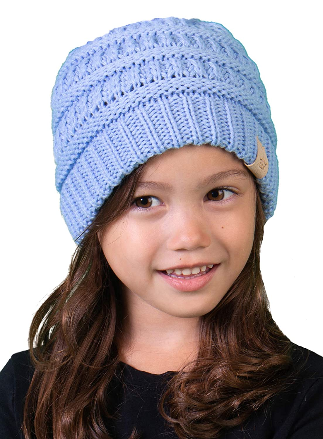 663d94b0d85 Funky Junque CC Kids Baby Toddler Ribbed Knit Children s Winter Hat Beanie  Cap 1 Grey  larger image