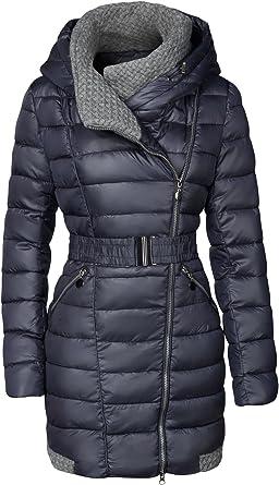 Femmes Manteau d/'hiver doublure transition manteau steppmantel veste matelassée MANTEAU