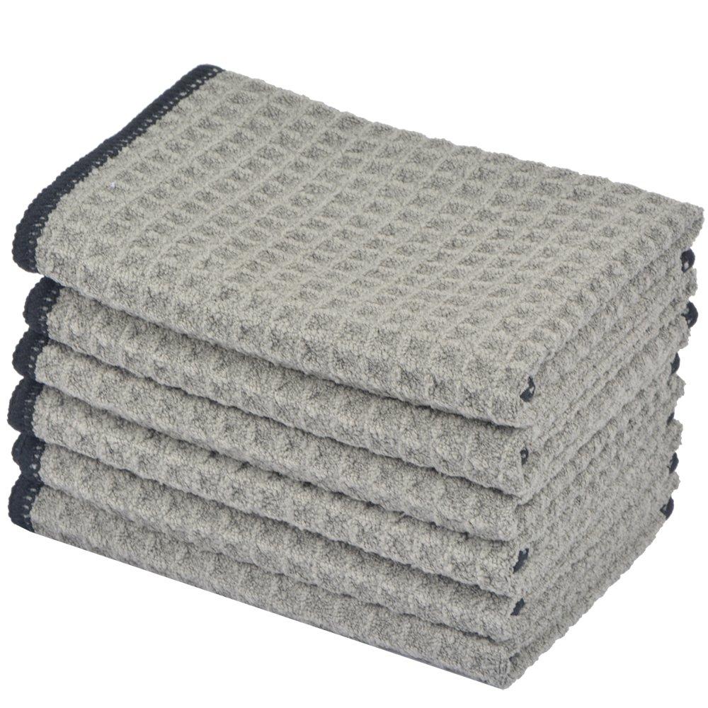 Grey Dish Rags: Amazon.com: Microfiber Dish Cloths For Kitchen
