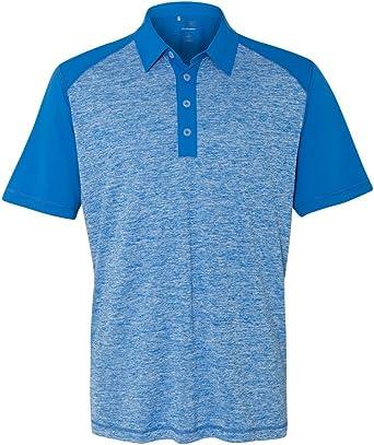 adidas A145 Heather Color Block – Polo de Golf para Hombre: Amazon ...