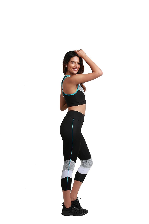 Sport Gym Yoga Sealmax Women Tights Leggings 7//8 Black with White Spray Compliment Figure 15369
