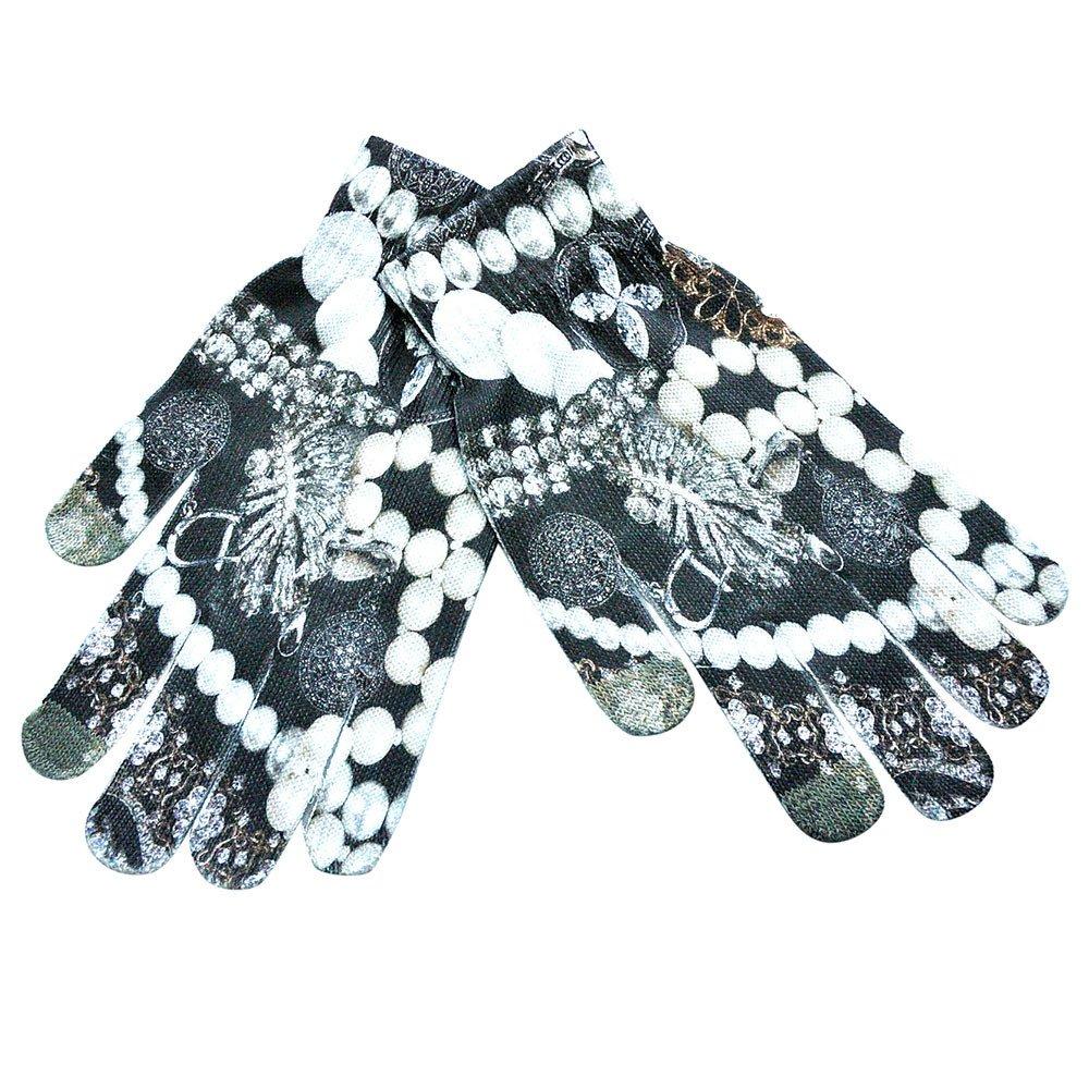 Feitengtd Men Women Winter Warm 3D Print Knitted Phone Screen Kitty Pet Cute Gloves K