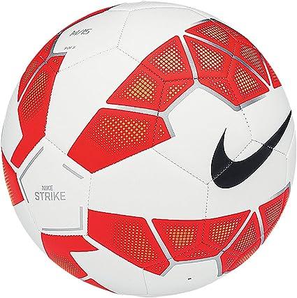 NIKE Ball Strike Balón, Unisex, White/Bright Crimson/Black, 3 ...