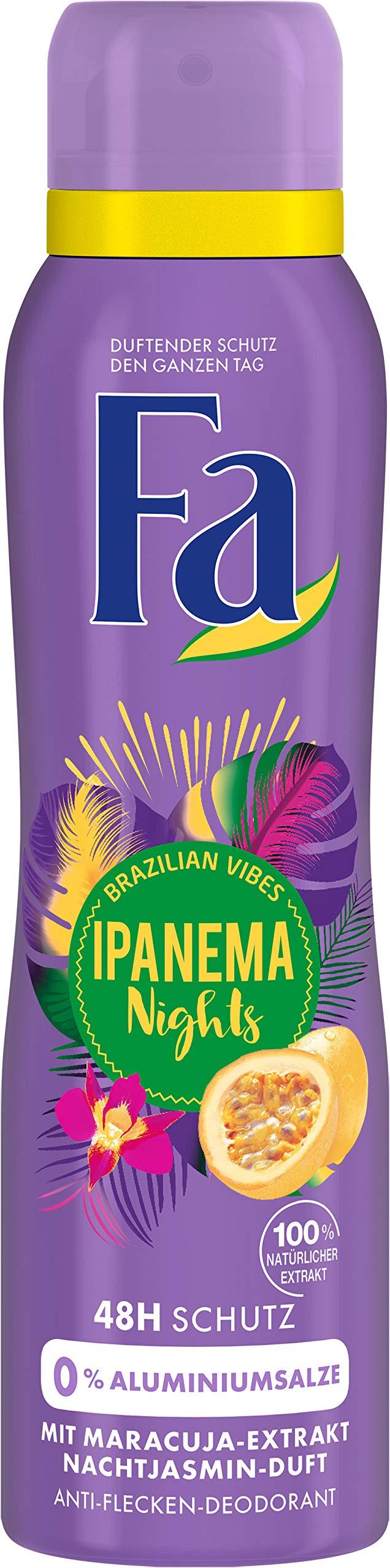FA Deodorant Spray Brazilian Vibes Ipanema Nights Night Jasmine Fragrance 150 ml