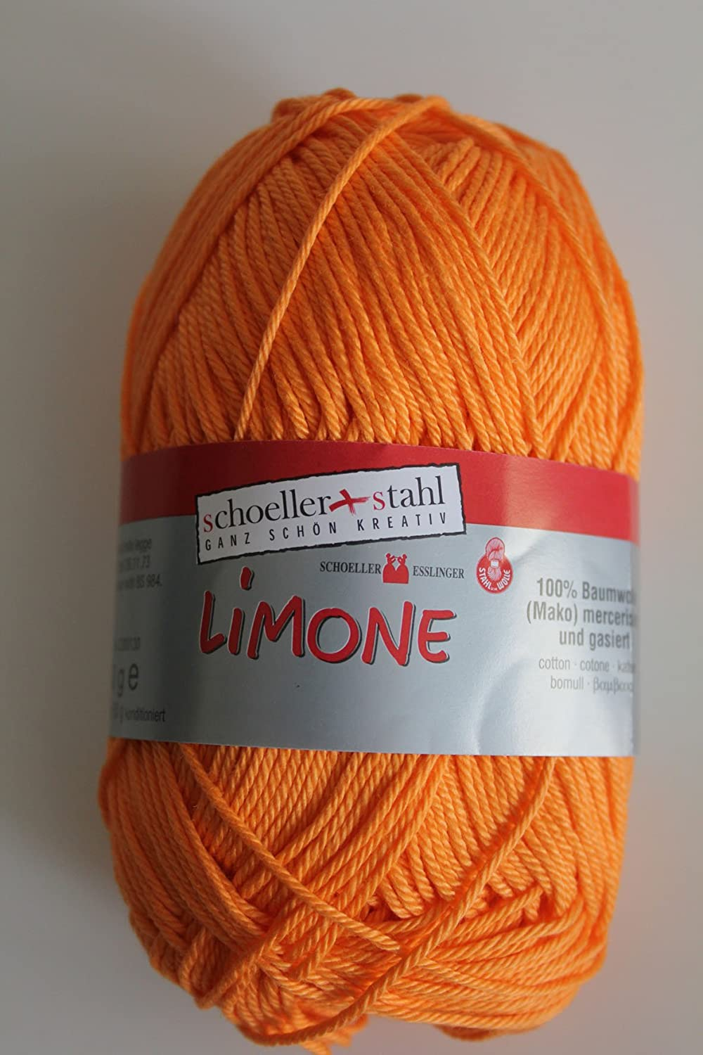 Limone Schoeller Stahl 100 /% Baumwolle 50 g Farbe 002-apricot