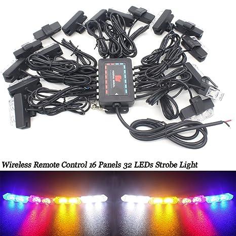 Lámpara estroboscópica intermitente LED, montaje en el coche ...