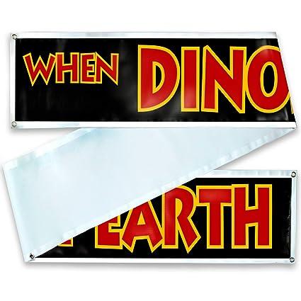 Color Jurassic Park Banner Sign Replica Prop