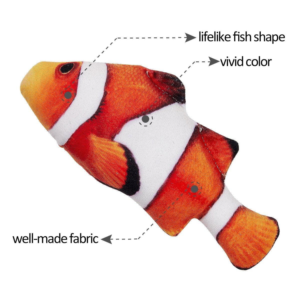 Amazon.com : MEWTOGO Cat toy Catnip Fluffy Fish Kitty Interactive ...