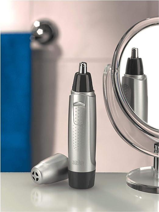 Braun EN10 - Cortapelos nariz y orejas, color plata: Amazon.es ...