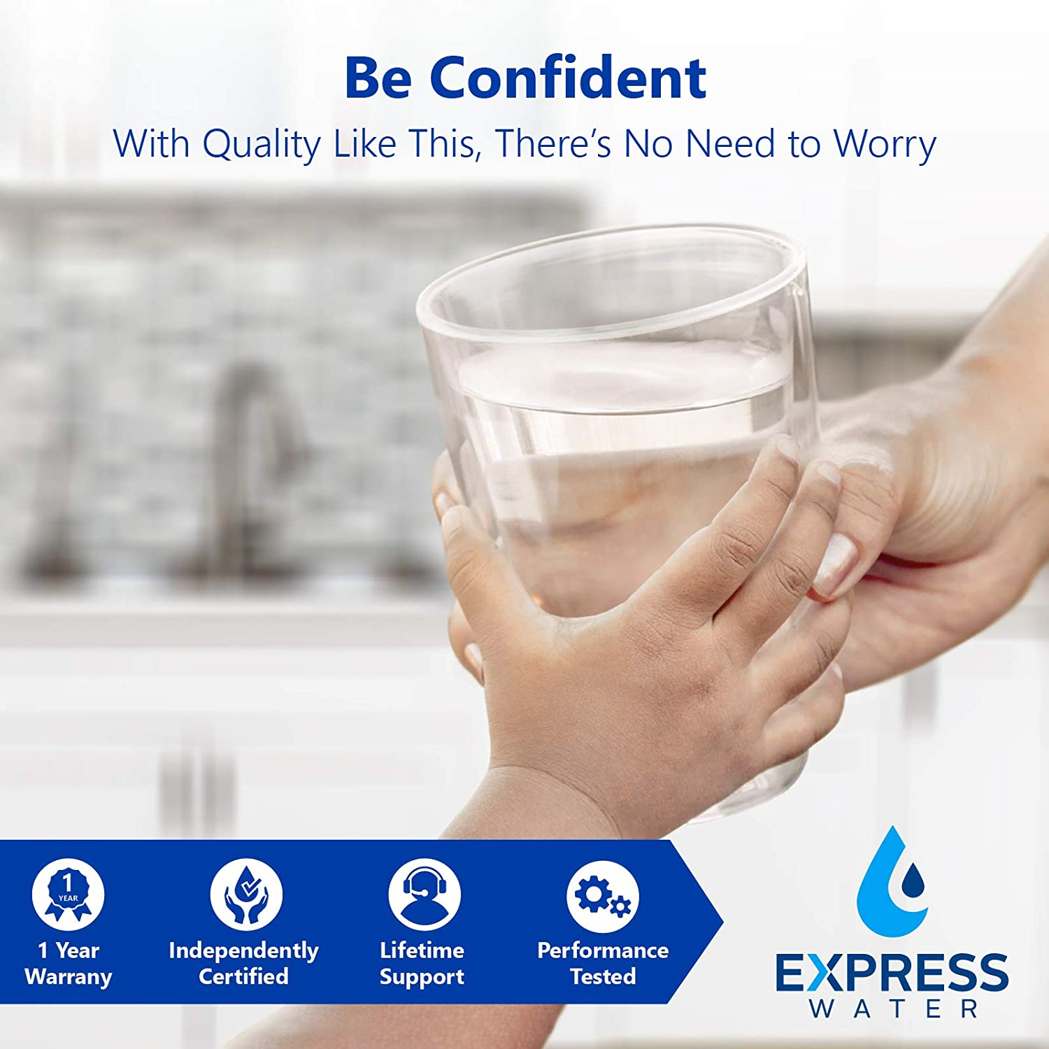 Express Water Deionization Reverse Osmosis Water Filtration System – 6 Stage RO DI Water Filter with Faucet and Tank – Distilled Pure – Under Sink Home Water Softener – 100 GPD: Home Improvement