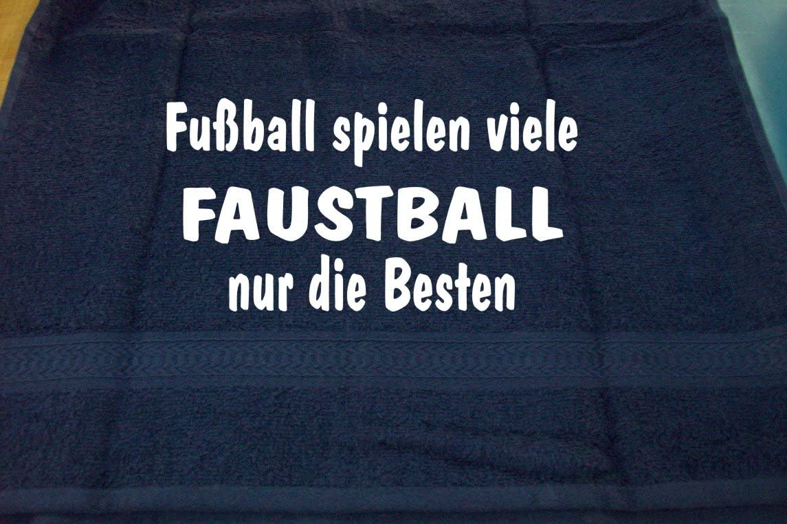 Faustball Handtuch Sport ShirtShop-Saar Fu/ßball Spielen viele