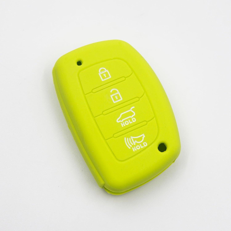 Sonata 2015 2016 2017 4 Button Remote Smart Key Chain Silicone Case Cover For Hyundai Tucson 2016 2017 Elantra 2014 2015 Red