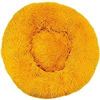 Decdeal Cama de Gato Donut Base Cama Redonda Impermeable Antideslizante Lavable a Máquina Duradera para Mascotas Cama de…