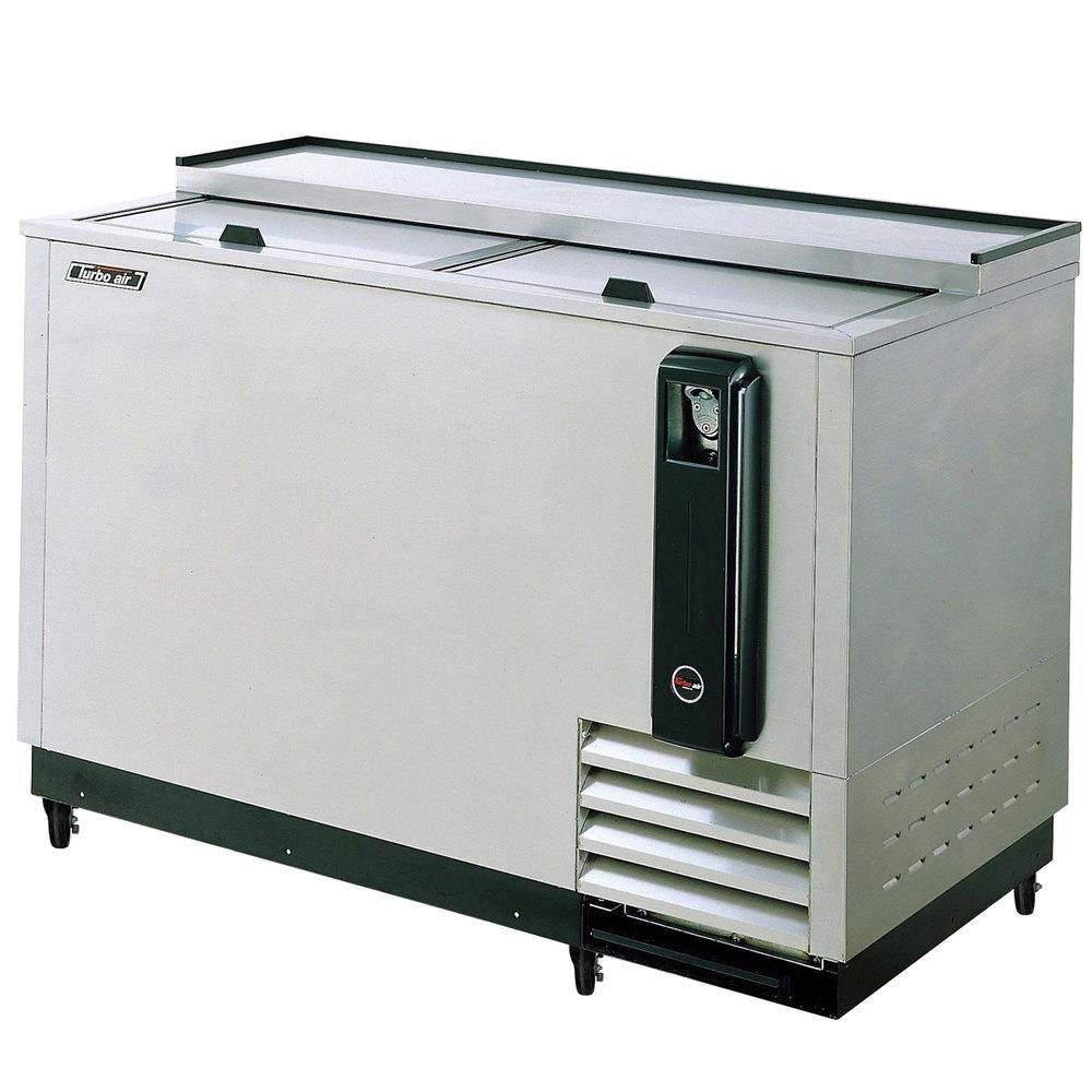 TBC50SD 15 cu. ft. Bottle Cooler with Forced Air Cooling System High Density PU Insulation PE Coated Dividers Efficient Refrigeration System and Stainless Steel Construction: Stainless Steel