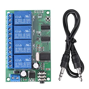 AD22B04 12V 4 Channel DTMF Tone Signal Decoder Relay Phone Remote