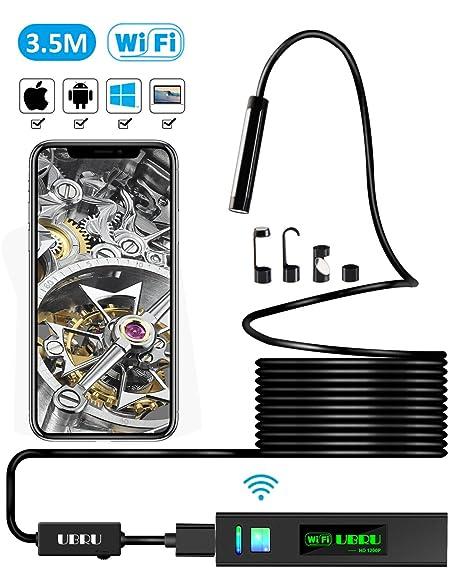 iphone endoscope. endoscope iphone borescope iphone, ubru wifi inspection camera 1200p hd ip68 semi-rigid flexible iphone i