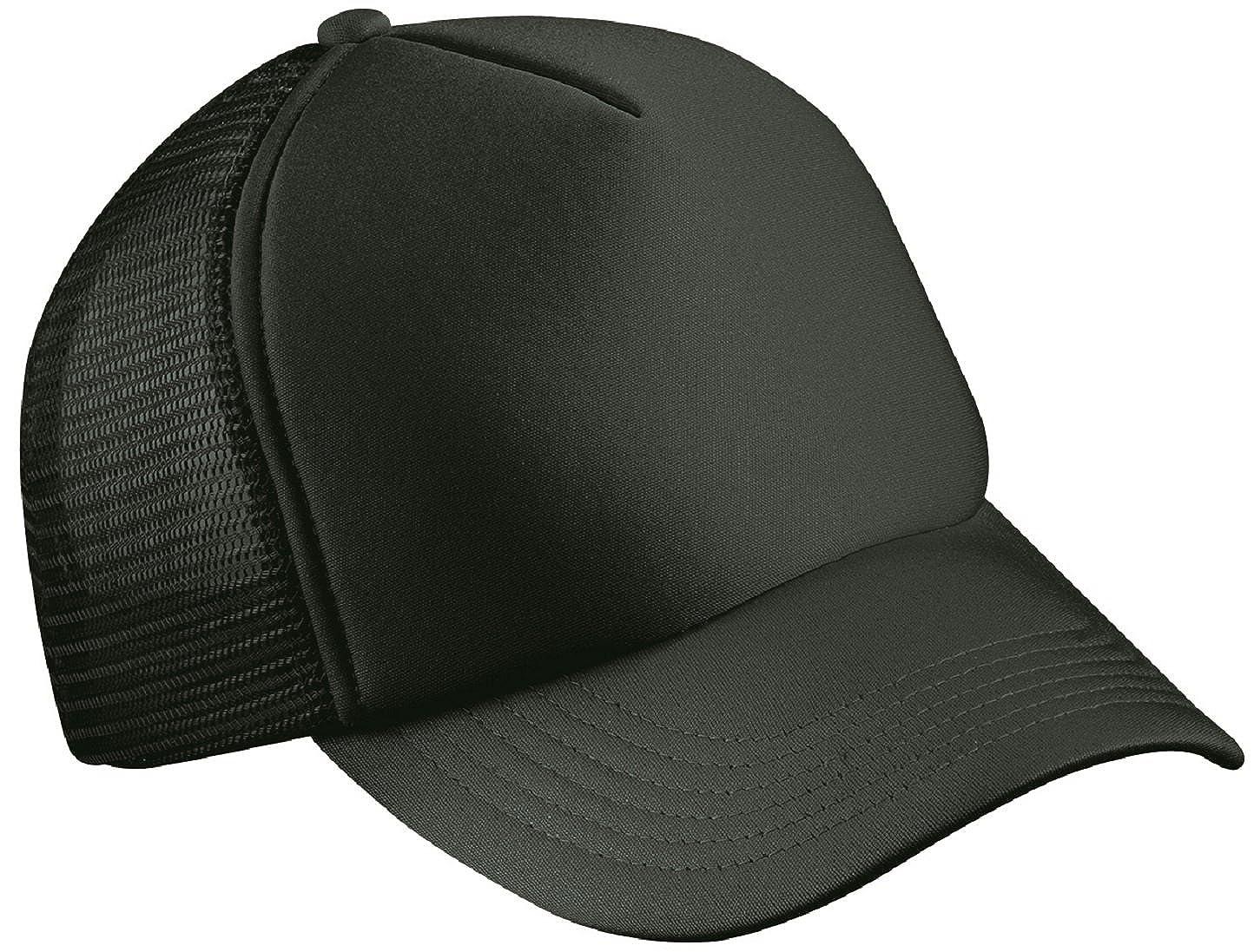 0fd9ecf7106 CLASSIC TRUCKER CAP HALF MESH HAT - 22 GREAT COLOURS (MB070) (BLACK)   Amazon.co.uk  Clothing