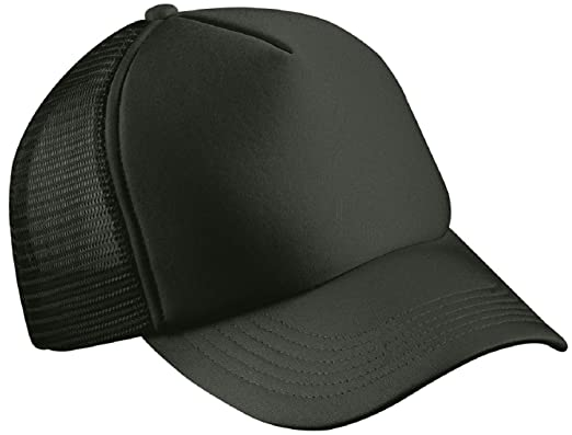 CLASSIC TRUCKER CAP HALF MESH HAT - 22 GREAT COLOURS (MB070) (BLACK ... 6e76257205c