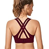 d0e9db66d75b4 Yvette Padded Strappy Sports Bras for Women High or Low Impact for Large  Bust w