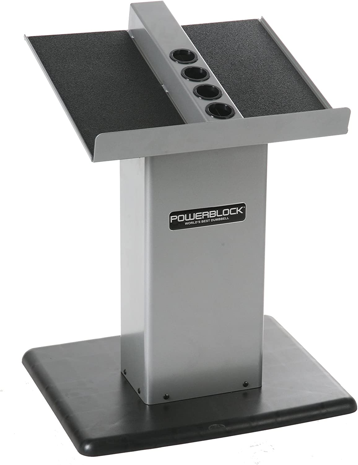 POWERBLOCK Personal Trainer Stand Silver Large Column Stand Silver