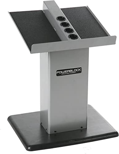 POWERBLOCK Large Column Stand, Silver Black, Model Large Column Stand Silver