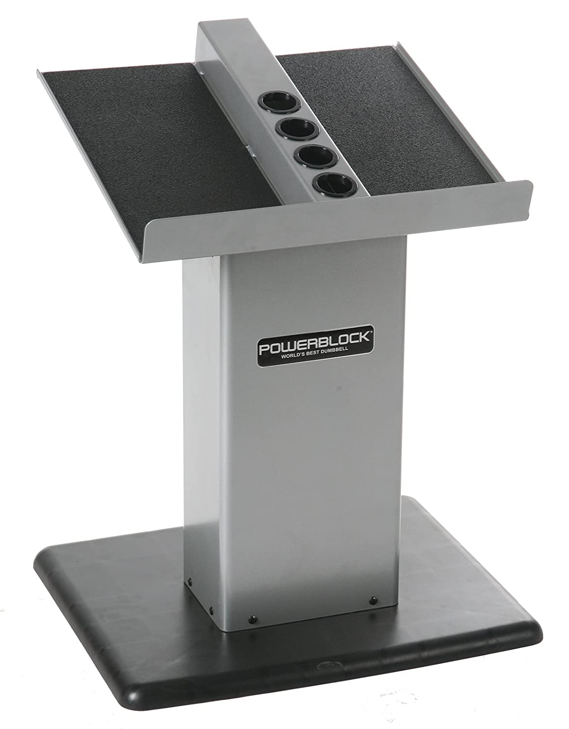 PowerBlock Large Column Stand (Silver) Personal Trainer Stand Silver