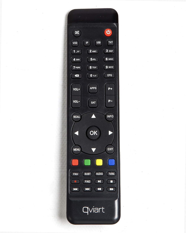 QVIART Mini2 Receptor Satélite DVB-S2 1080p Full HD LAN, Antena Wifi USB, IR Externo, DLNA, Youtube, Media Player y Excelente Mando a Distancia con 49 botones: Amazon.es: Electrónica