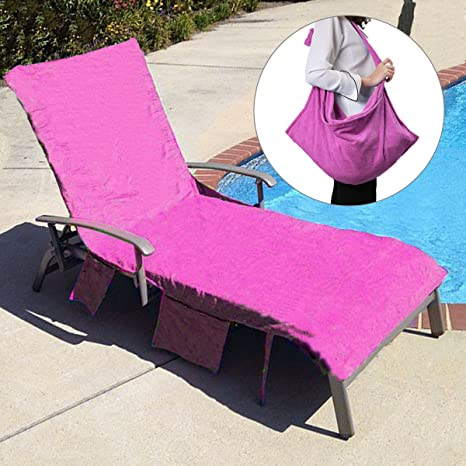 Ordinaire KING DO WAY Lounge Chair Beach Towel Cover Microfiber Pool Lounge Chair  Cover With Pockets Holidays