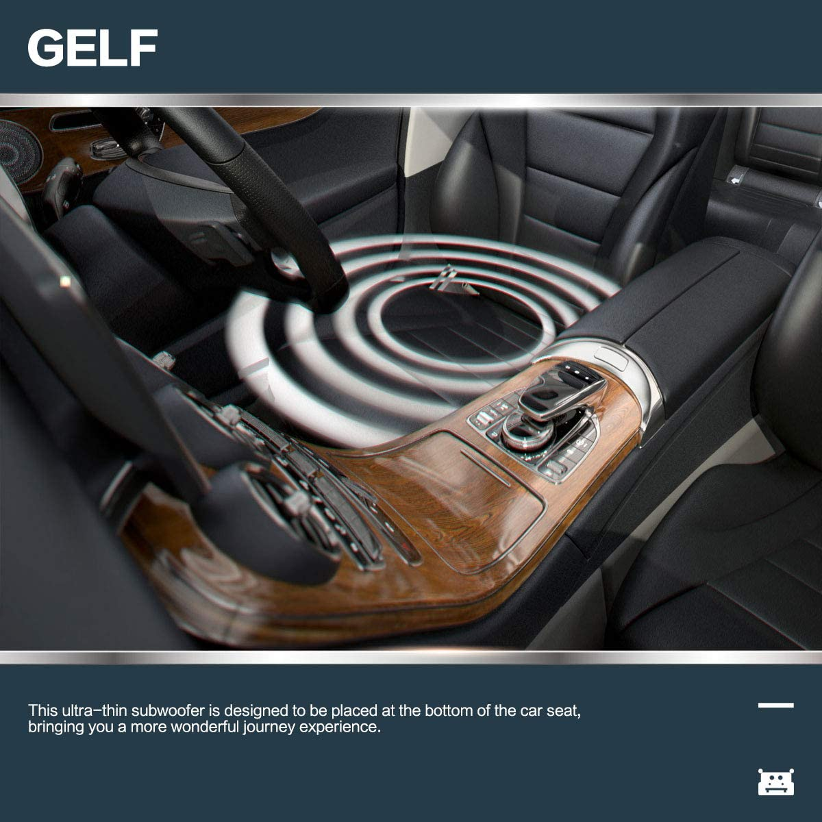Devmo GELF 8 Compact Powered Enclosed Subwoofer for CAR