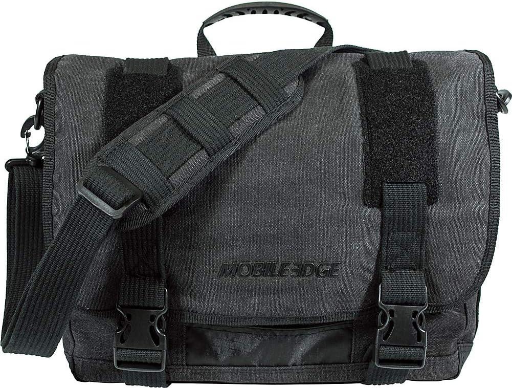 """Amazon.com: Mobile Edge Laptop/Tablet 14.1"""" Ultrabook or 15"""" MacBook Eco-Friendly Messenger Bag, Cotton Canvas, Charcoal for Men, Women, Business, Student MEUME5 Ash: Electronics"""