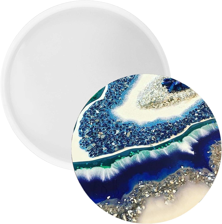 FUNSHOWCASE Round Coaster Resin Epoxy Silicone Mold 5.5-inch.
