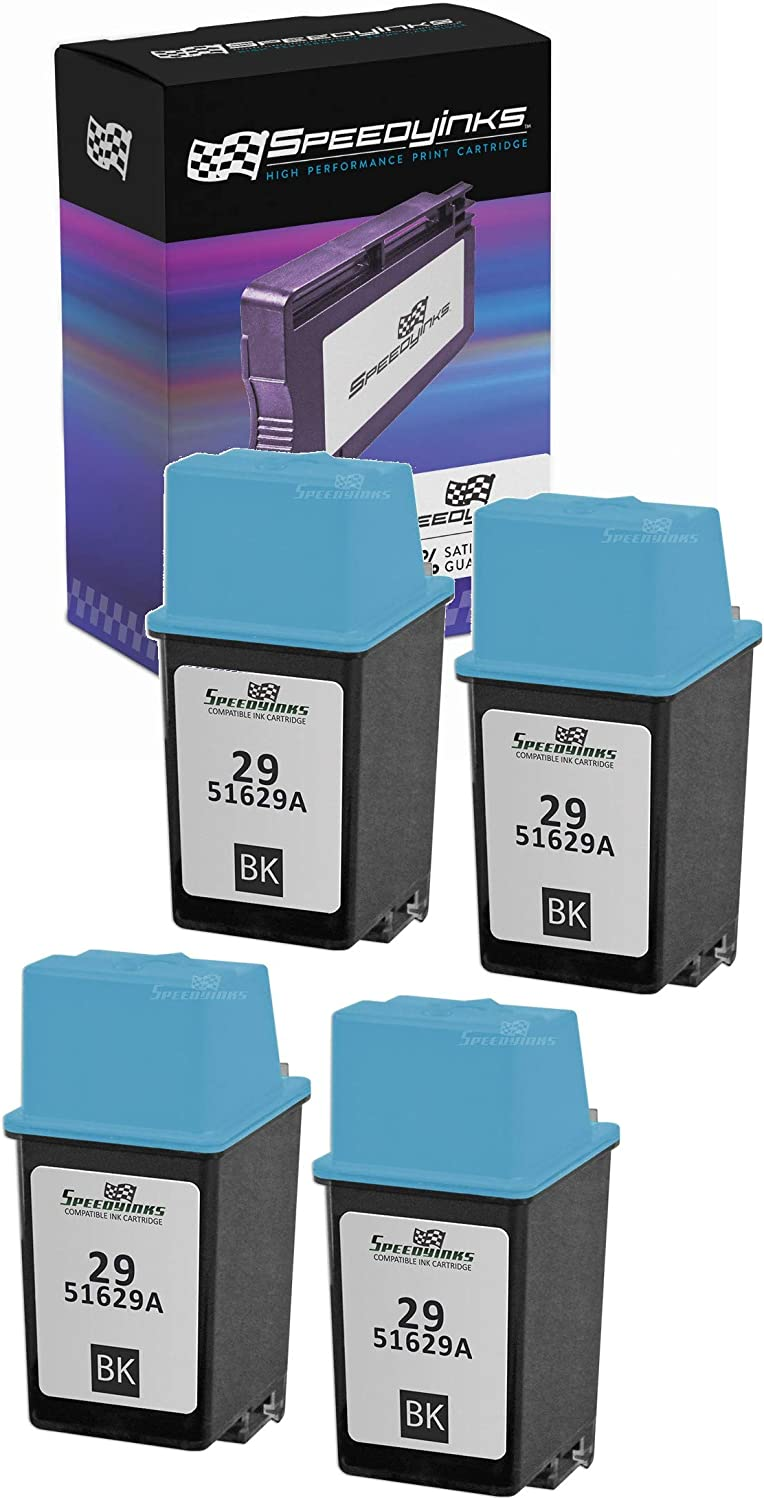 Speedy Inks Remanufactured Toner Cartridge Replacement for HP 29 (Pigment Black, 4-Pack)