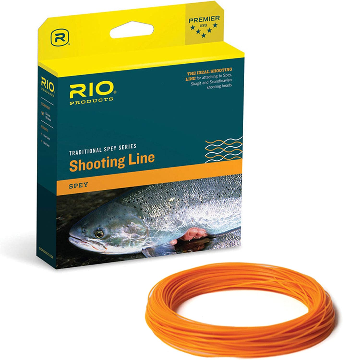 RIO Products Fly Line Powerflex Max Shooting Line .024 Floating, Orange