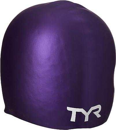 TYR Wrinkle Free Silicone Swim Cap Purple Adult