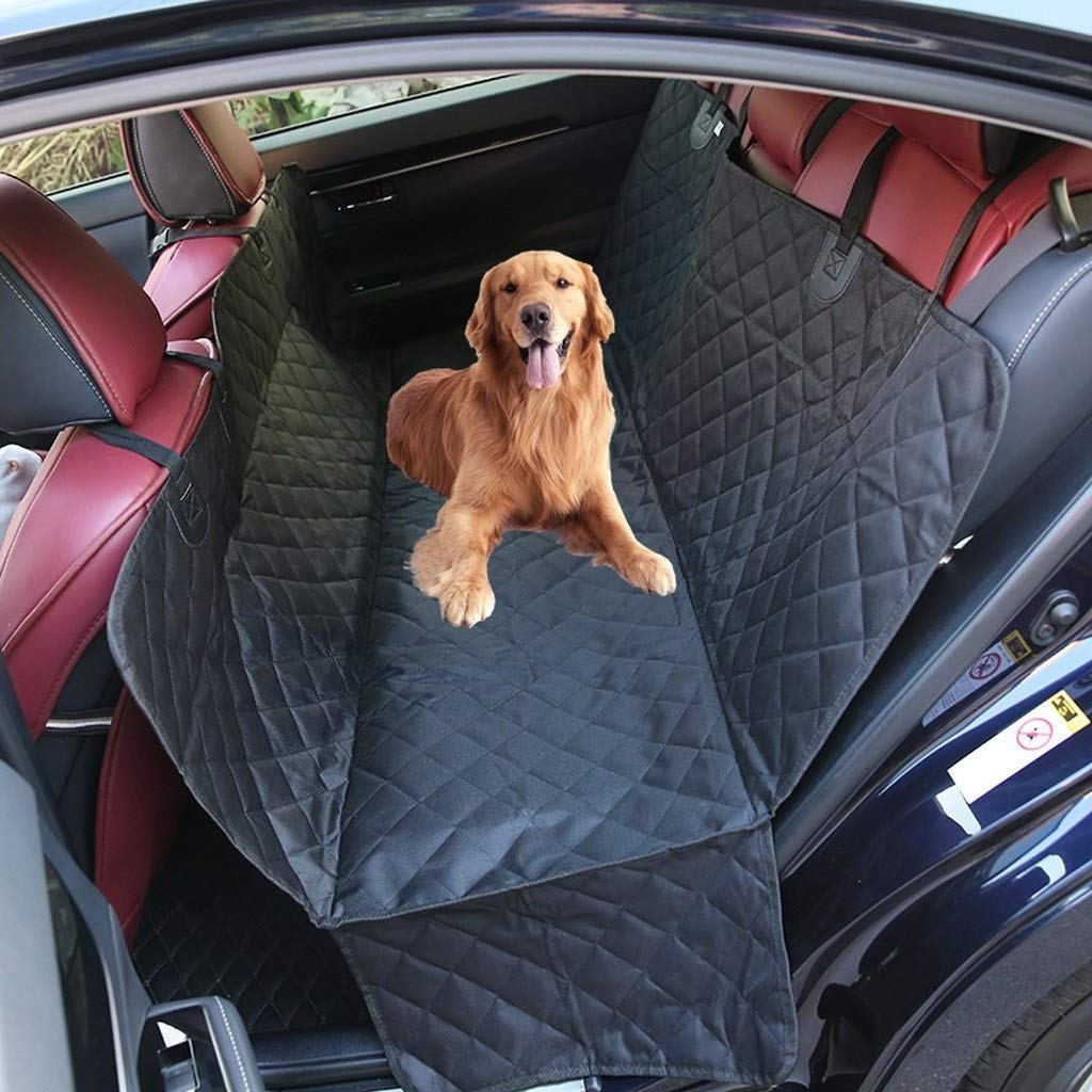HOSHT Dog Car Back Seat Cover Hammock Waterproof, Duty Scratch Proof Nonslip Durable Soft Large Size Universal Pet Car Seat Cover