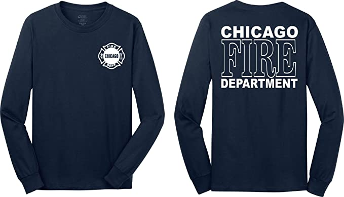 Chicago Fire Department Longsleeve Duty T Shirt Amazon Com