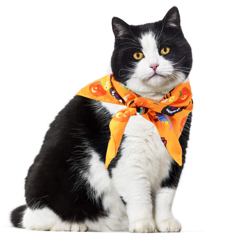 Fansport Halloween Dog Bandana for Pet Triangle Bibs Bandana for Cats, Pet Bandana bib for Dog Cats Bandana Scarf (3PCS)