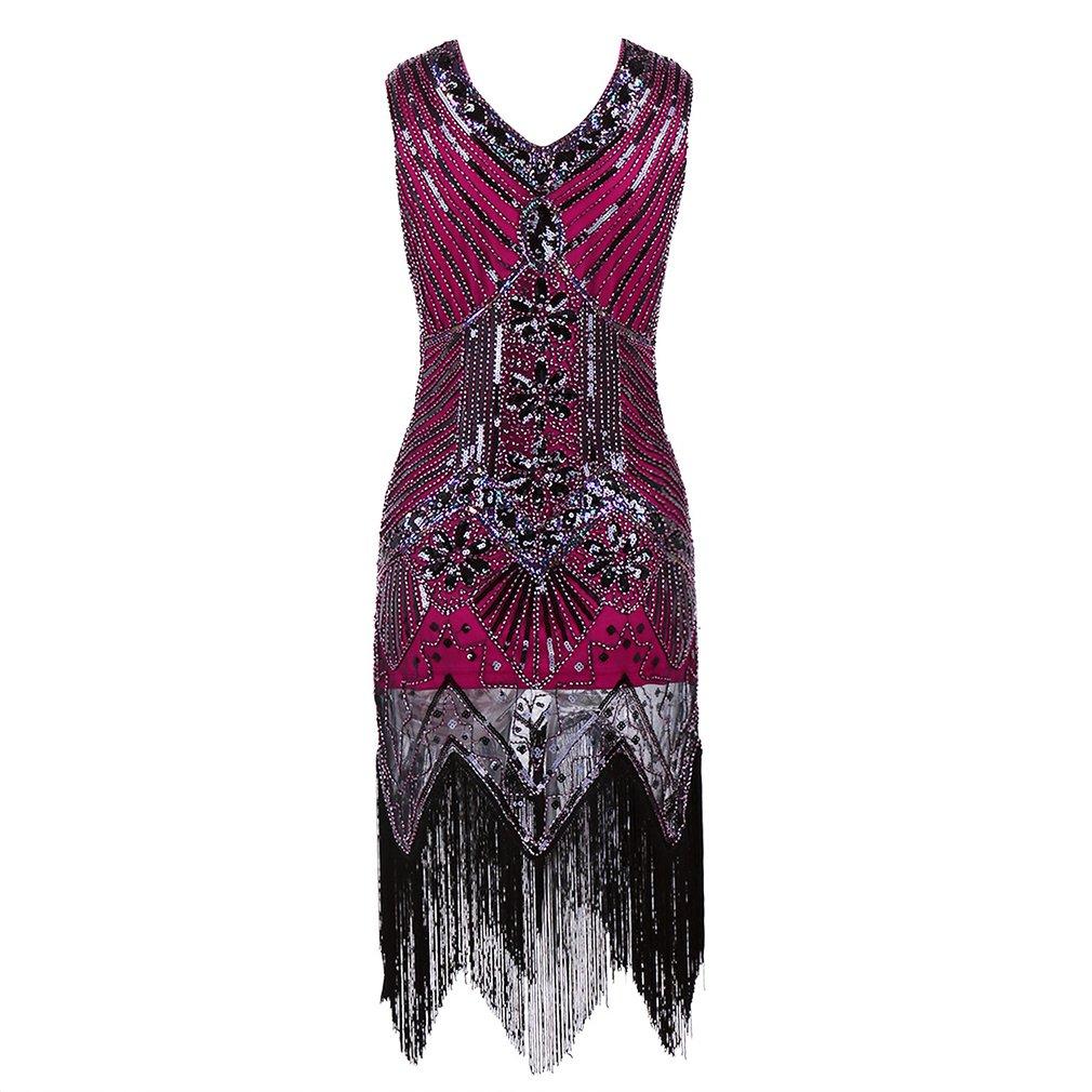La mujer resplandeciente de 1920 Vestido de charnela de estilo ...