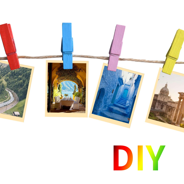 Aylifu 50 Piezas Mini Clips de Fotos Madera Multifunci/ón Clavijas Pinzas de Papel Artesanales para Oficina Hogar,3.5 x 0.5cm x 0.7cm