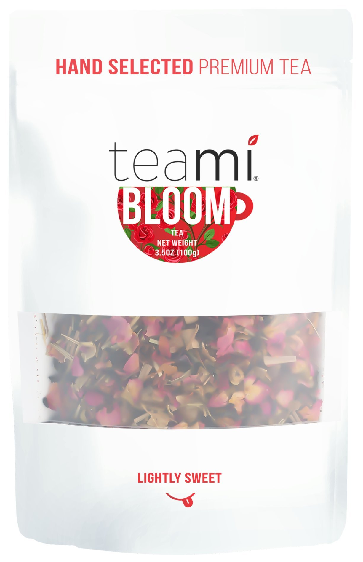 Teami Bloom Rose Petal Tea - Loose Leaf, 25 Servings
