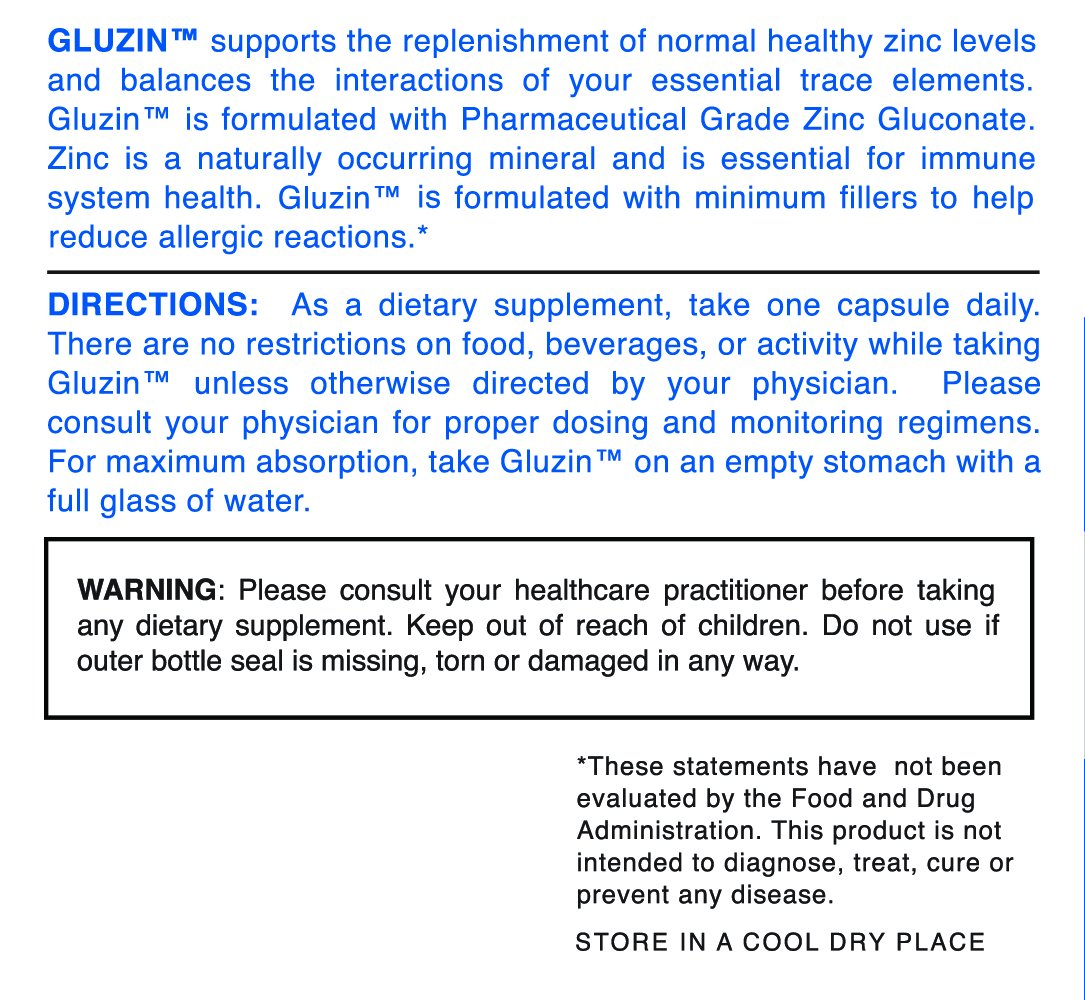 Amazon.com: # 1 recomendado OTC Zinc – gluzin – Alta ...