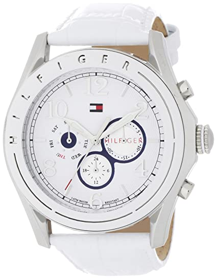 7820396c48 Tommy Hilfiger Women s 1781052 Sport Mother-of-Pearl Dial White Croco  Embossed Strap Subdial Watch  Amazon.ca  Watches