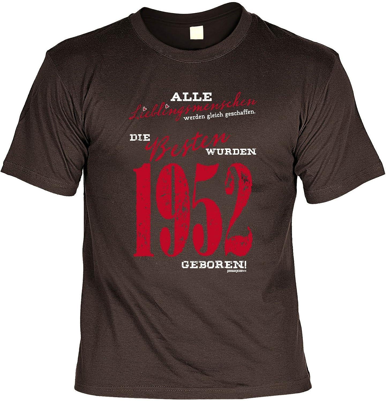 T-Shirt - Lieblingsmenschen - Die Besten wurden 1952 geboren - lustiges  Sprüche Shirt als Geschenk zum 65. Geburtstag: Amazon.de: Bekleidung