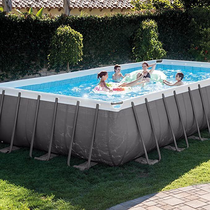 Intex 26362NP - Piscina desmontable Ultra Frame 732 x 366 x 132 cm, 31.805 litros: Amazon.es: Jardín