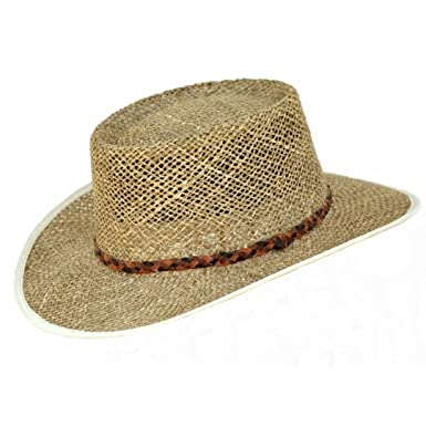 be78e5ffa Mens Greg Norman Style Seagrass Straw Summer Hat S19
