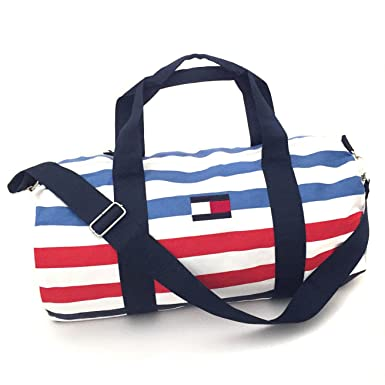 fb4ea036a7 Image Unavailable. Image not available for. Color  Tommy Hilfiger Large  Multi Striped Duffle Bag