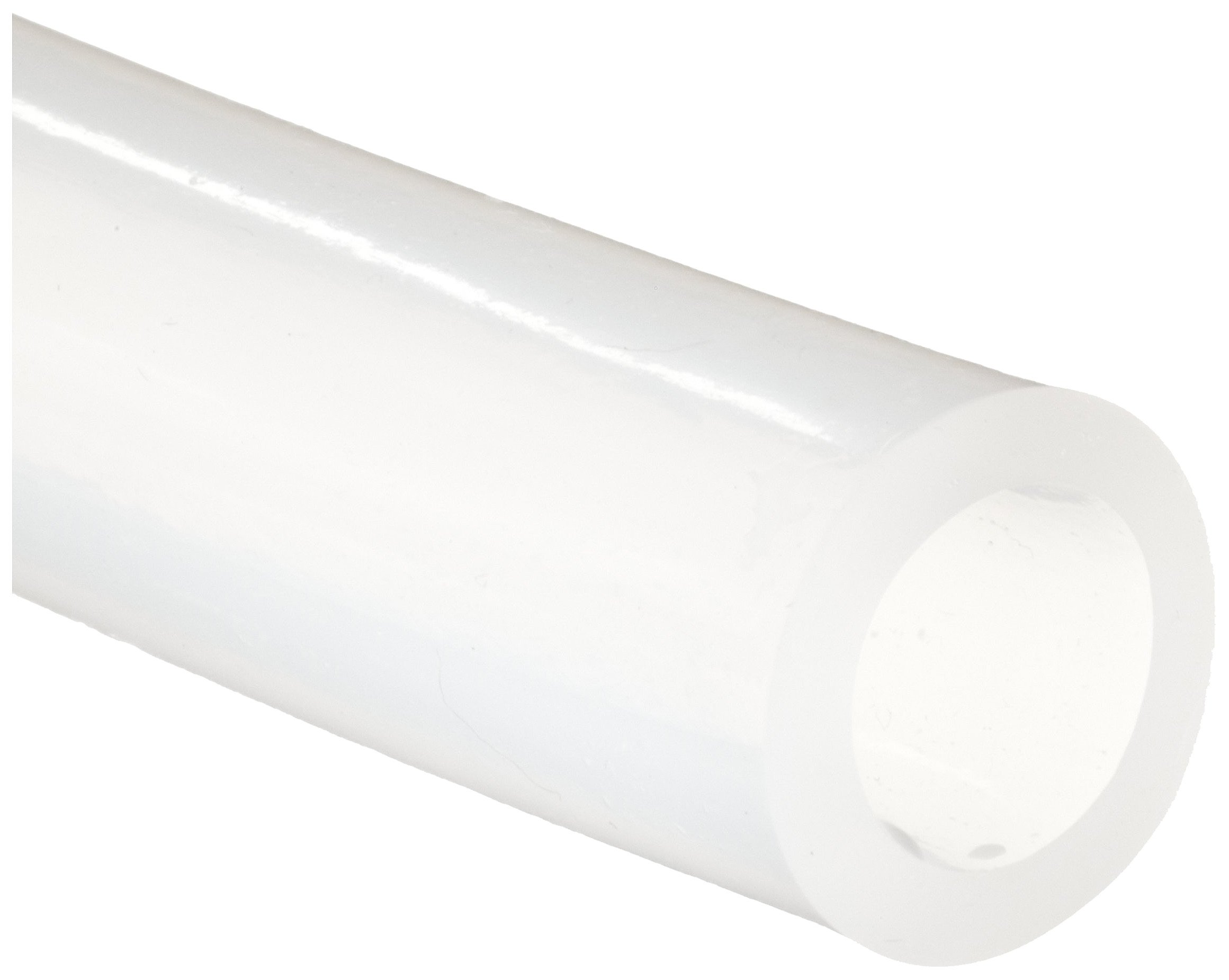 White Translucent Medical Grade SiliconeTubing, 0.625'' ID, 0.875'' OD, 0.125'' Wall, 25' Length
