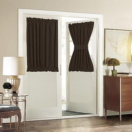 Amazon French Door Curtain Window Treatment Aquazolax