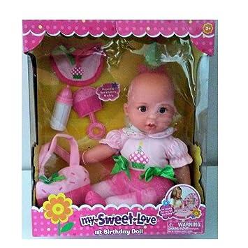 amazon com my sweet love 1st birthday baby doll toys games
